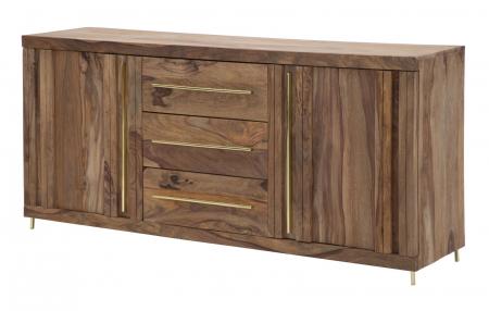Dulap 2 usi si 3 sertare ELEGANT, lemn masiv sheesham, 175X45X80 cm, Mauro Ferretti2