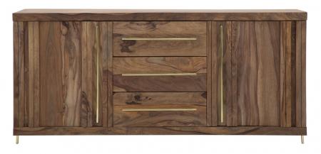 Dulap 2 usi si 3 sertare ELEGANT, lemn masiv sheesham, 175X45X80 cm, Mauro Ferretti1