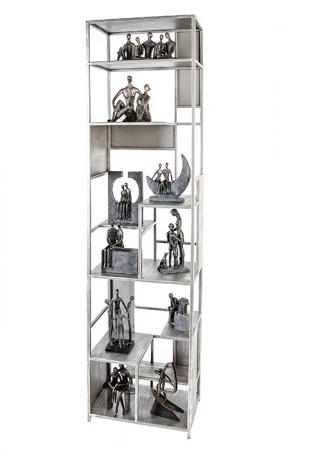 Dulap cu rafturi LEVEL, metal, 200x50x35 cm0
