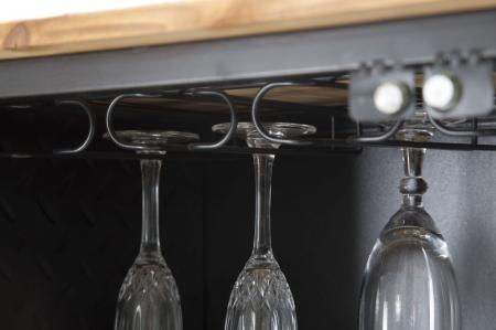 Dulap cu suport de sticle de vin IRON SCHOOL  (cm) 81X42X162,56