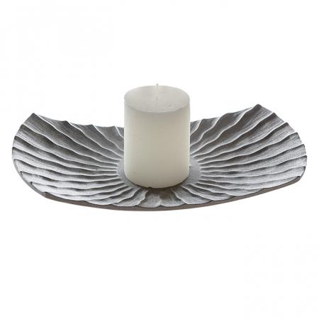 Farfurie lumanare/deco PEARL, ceramica, 35x6x200