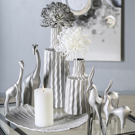 Farfurie lumanare/deco PEARL, ceramica, 35x6x201