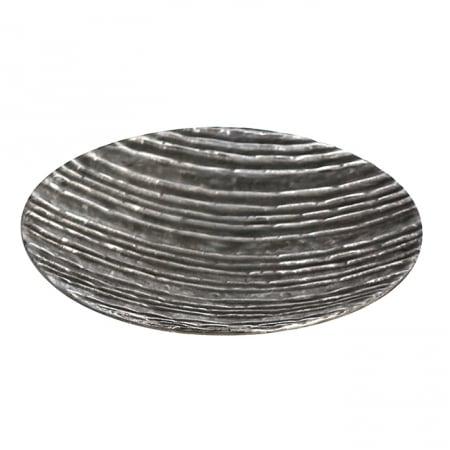 Farfurie lumanare/deco VULCANO, aluminiu, 39x7 cm1