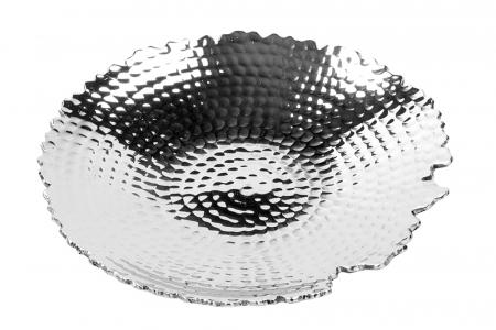 Farfurie MEIGO, placata cu nichel, 3x17 cm0