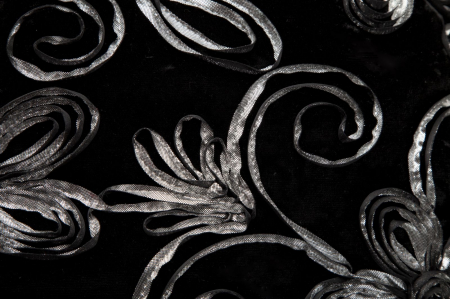Fata de perna FLOWY NERO (cm) 40X40 2