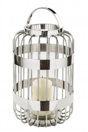 Felinar CAMERON, inox/sticla, 39.5x25.5 cm, Fink0