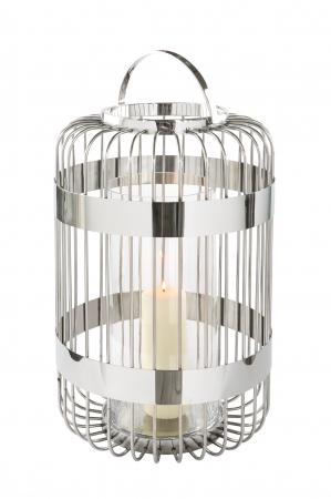 Felinar CAMERON, inox/sticla, 60x38 cm, Fink0