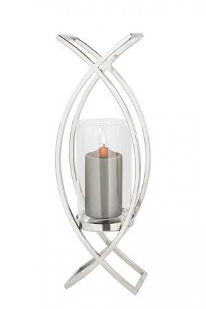 Felinar MADDOX,inox/sticla,54 x 19 x 13 cm [2]