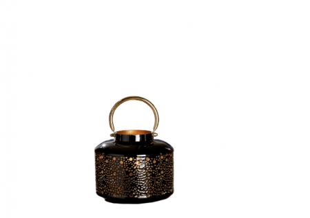 Felinar NEGRA, metal, 16.5x18 cm0