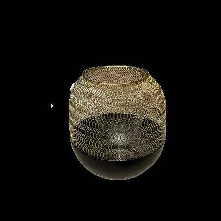 Felinar ORLANDO, metal/sticla, 15x13 cm