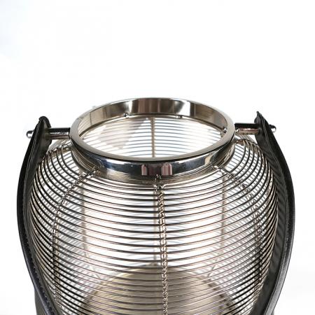 Felinar CAGE, otel inoxidabil/sticla, 27x23 cm3