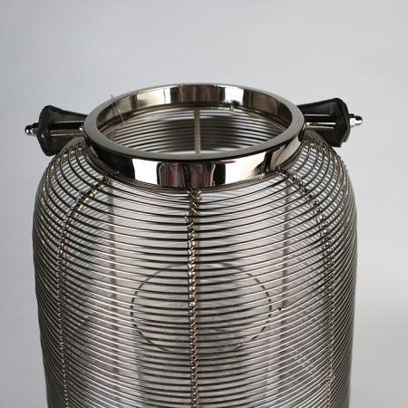 Felinar CAGE, otel inoxidabil/sticla, 44x26 cm3