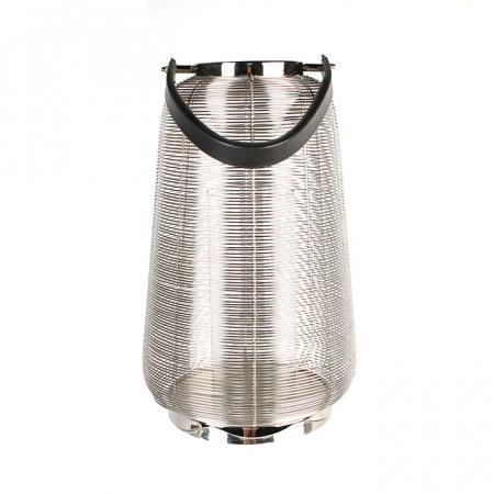 Felinar CAGE, otel inoxidabil/sticla, 44x26 cm2