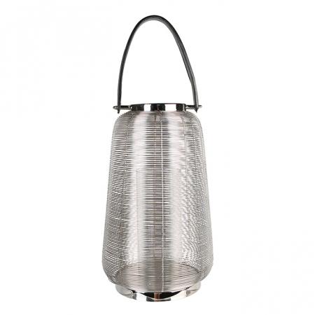 Felinar CAGE, otel inoxidabil/sticla, 44x26 cm