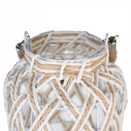 Felinar SWING, metal/sticla/fibre, 35x20 cm3
