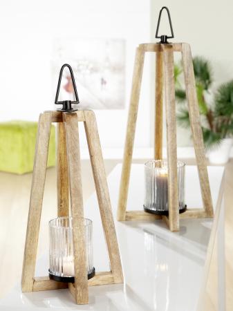 Felinar TRANGOLO, lemn, 20x37x20 cm1