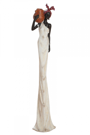 Figurina African tortuga, rasina, multicolor, 16,5x16x82 cm0