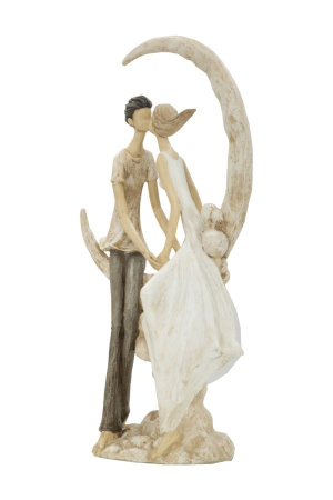 Figurina COUPLE MORE ON THE MOON (cm) 20X10X33,51