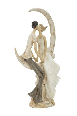 Figurina COUPLE MORE ON THE MOON (cm) 20X10X33,52