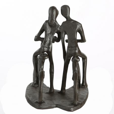 Figurina CYCLING, metal, 13x13X10 cm4