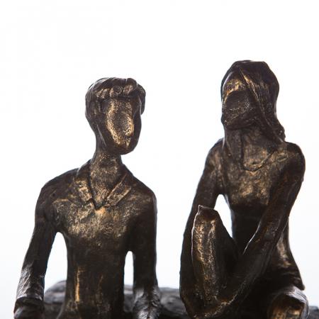 Figurina DISCUSSION, rasina, 17X13X12 cm1