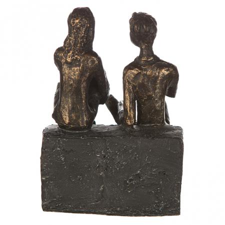 Figurina DISCUSSION, rasina, 17X13X12 cm4