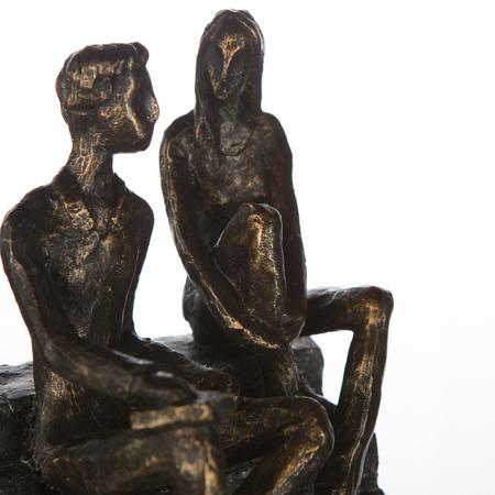 Figurina DISCUSSION, rasina, 17X13X12 cm3