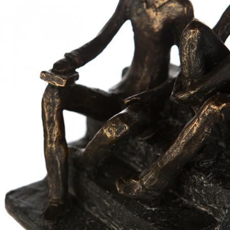 Figurina DISCUSSION, rasina, 17X13X12 cm2