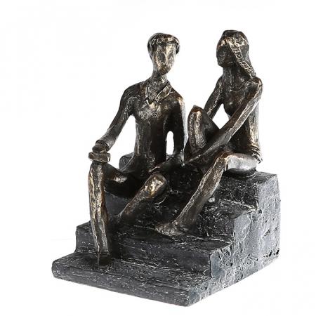 Figurina DISCUSSION, rasina, 17X13X12 cm0