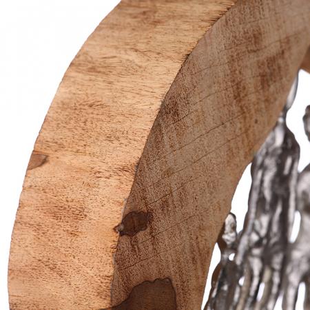 Figurina FAMILY, lemn/aluminiu, 28X30X7 cm4