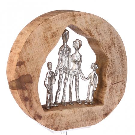 Figurina FAMILY, lemn/aluminiu, 28X30X7 cm1