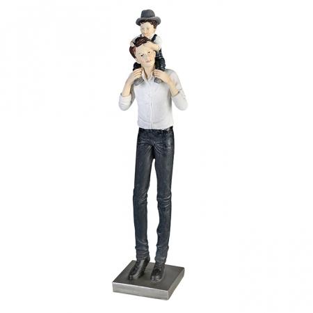 Figurina FATHER AND SON, rasina, 38x9.5x7 cm0
