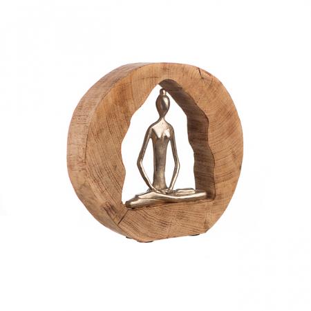 Figurina HEALTH, lemn/aluminiu, 27X28.5X5 cm3