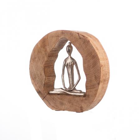 Figurina HEALTH, lemn/aluminiu, 27X28.5X5 cm4