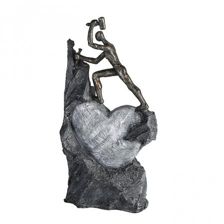 Figurina HEART, rasina, 37X19X9 cm0