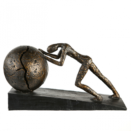 Figurina HEAVY BALL, rasina/metal, 37X21.5 cm1