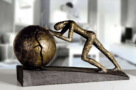 Figurina HEAVY BALL, rasina/metal, 37X21.5 cm2