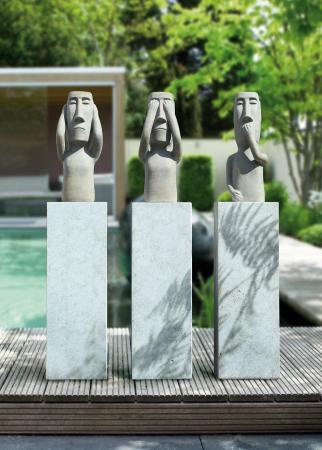 Figurina Nothing hear, ceramica, gri, 25x63x18 cm1
