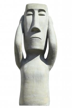 Figurina Nothing hear, ceramica, gri, 25x63x18 cm0