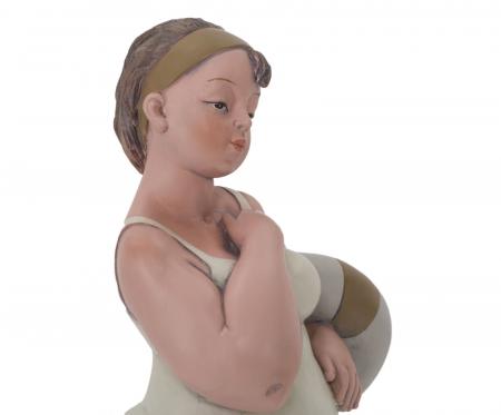 Figurina, rasina, Multicolor, 12.9X10.9X16.2 cm5