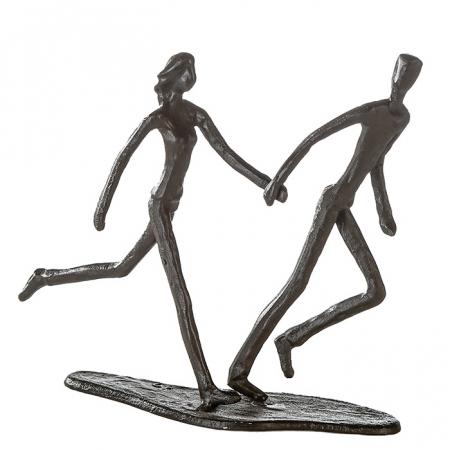 Figurina RUNNING, metal, 18x17X7 cm0