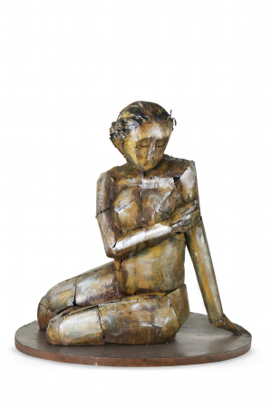 Figurina SENSUAL BEAUTY, metal, lucrat manual, 66X68X66 cm1