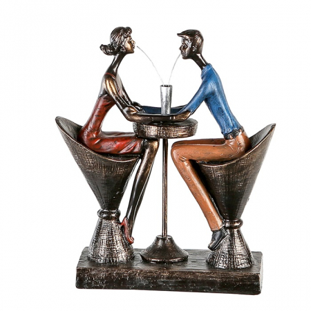 Figurina TABLE FOR TWO, rasina, 25x21x8 cm2