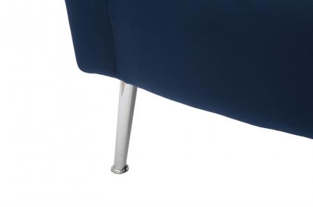 Fotoliu BUCHAREST, albastru, 76X74X73 cm, Mauro Ferretti7