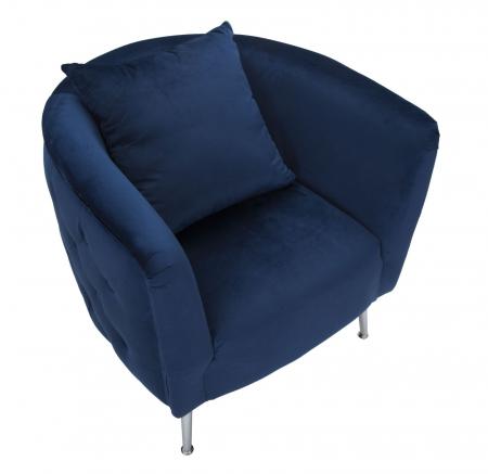 Fotoliu BUCHAREST, albastru, 76X74X73 cm, Mauro Ferretti4
