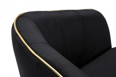 Fotoliu PARIS, negru, 62X58X78 cm, Mauro Ferretti6
