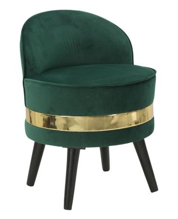 Fotoliu/Taburet PARIS, verde, 45X62 cm, Mauro Ferretti0