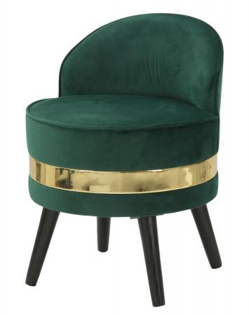 Fotoliu/Taburet PARIS, verde, 45X62 cm, Mauro Ferretti2