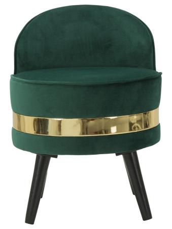 Fotoliu/Taburet PARIS, verde, 45X62 cm, Mauro Ferretti1