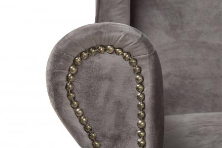 Fotoliu Veneta, Gri argintiu, 85x95x85 cm4